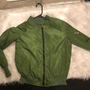 Jackets & Blazers - Green bomber jacket